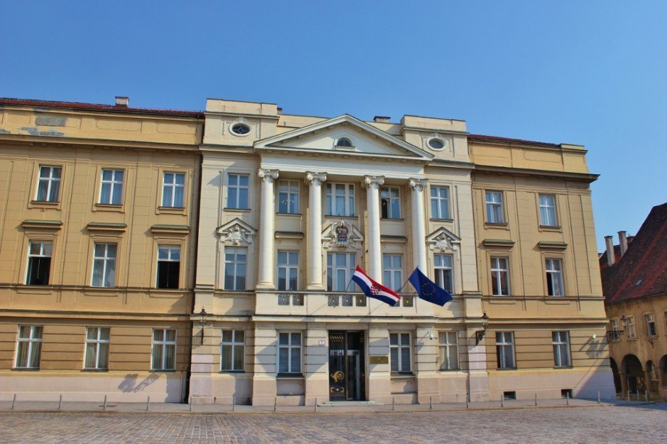 Sabor Parliament Building on St. Mark's Square in Zagreb, Croatia