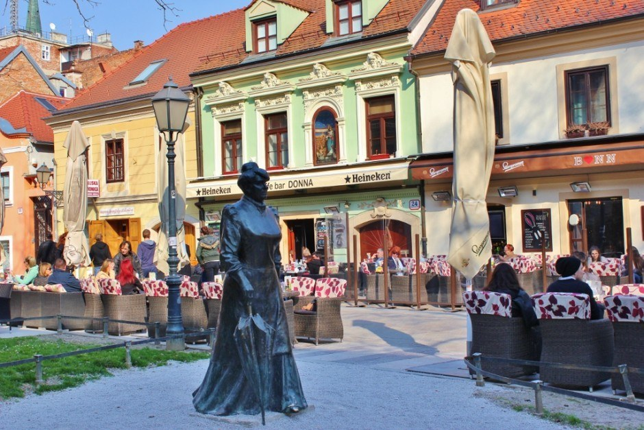 Tkalciceva Street between Gradec and Kaptol in Zagreb