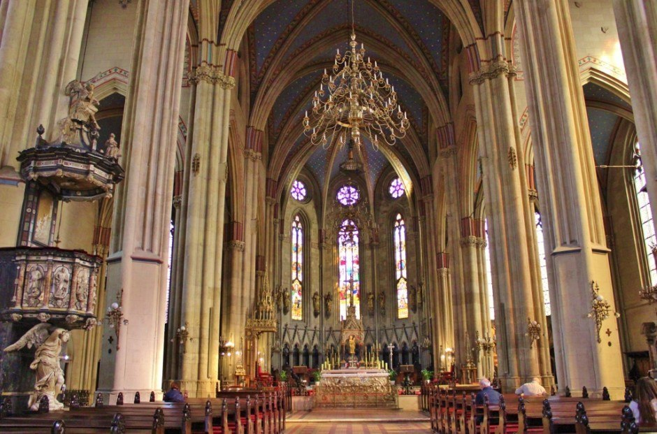 The inside of Zagreb's Cathedral, located in Kaptol.