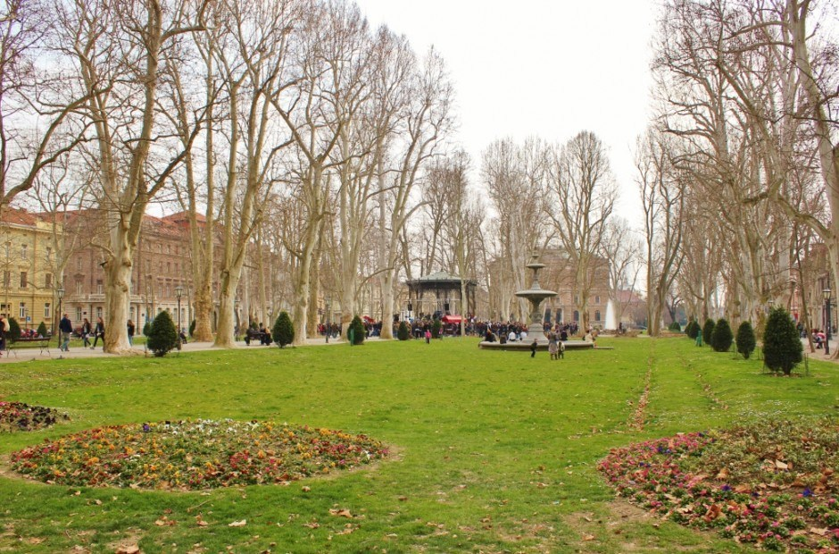 Green Horseshoe is one of the best parks in Zagreb, Croatia