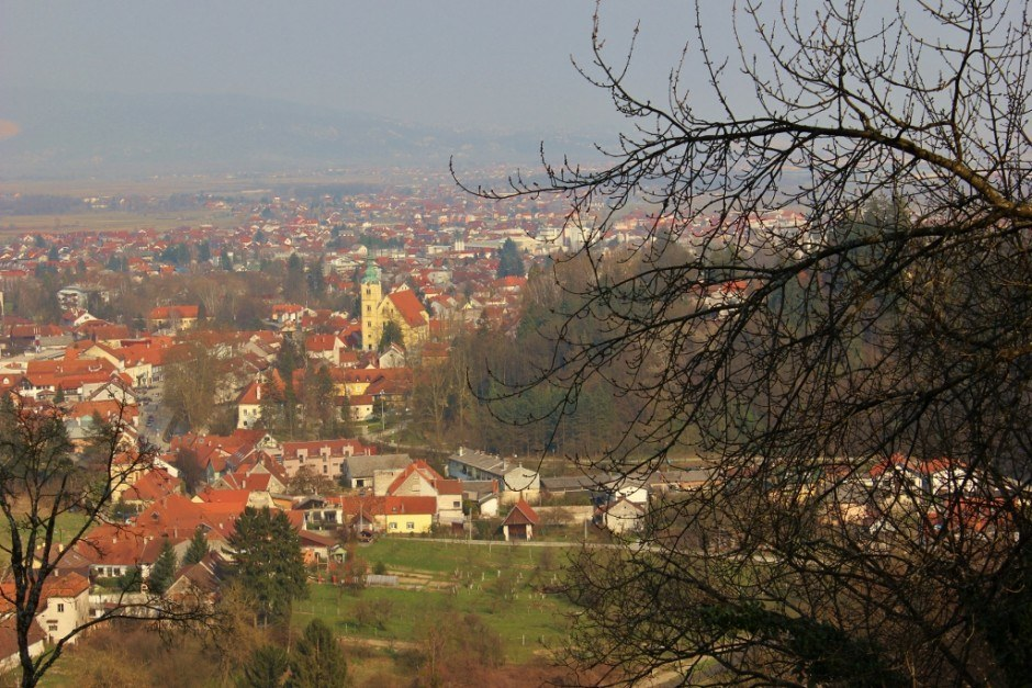 Day Trip to Samobor: A view from Samobor, Croatia from Tepec Hill.