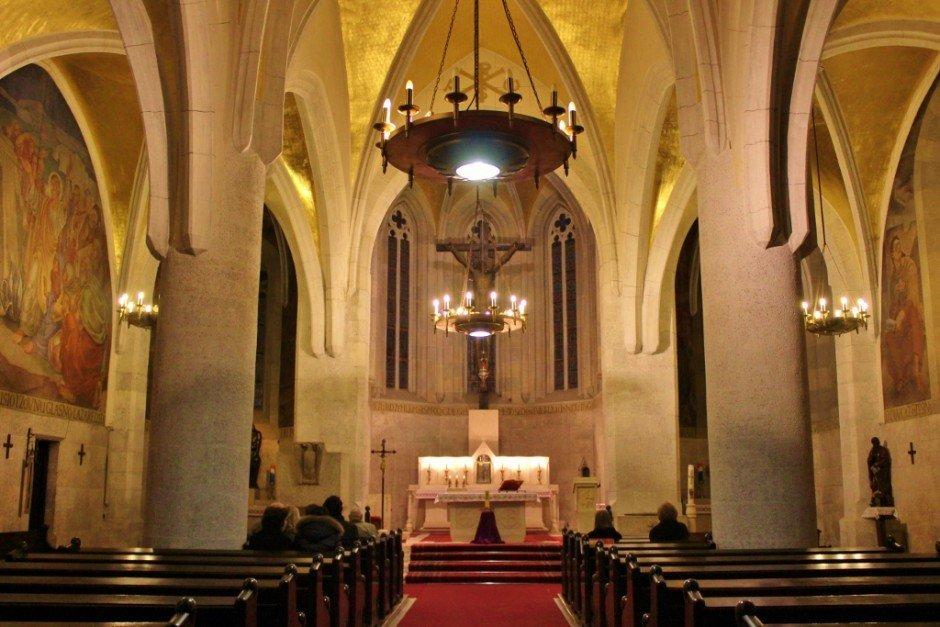 The inside of St. Mark's church in Gradec - Zagreb, Croatia
