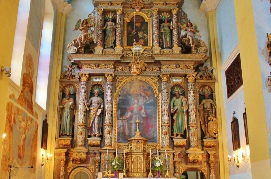 The Baroque interior of St. Catherine's Church in Krapina, Croatia
