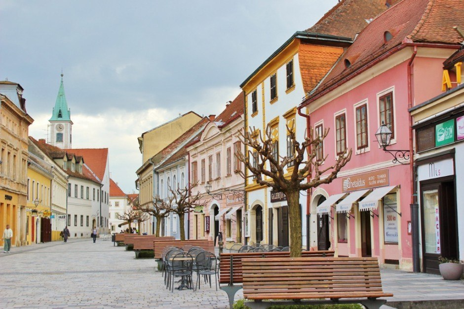 Varazdin: a picturesque lane