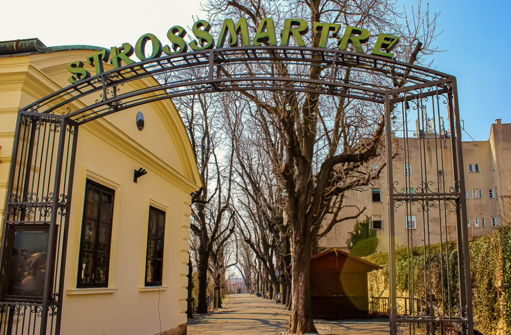 Strossmartre Park Sign in Zagreb, Croatia