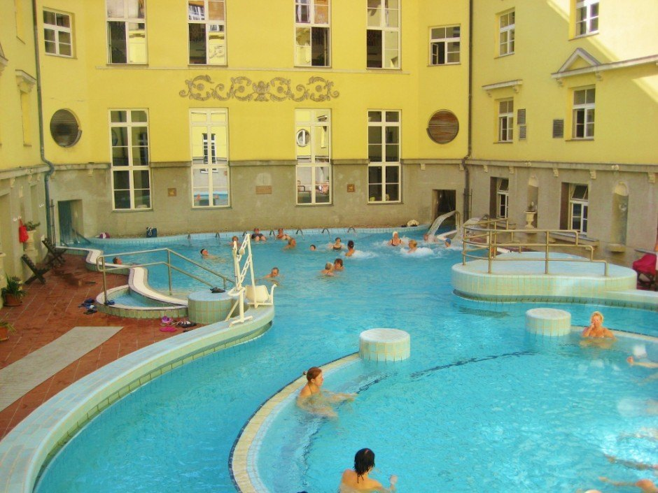Lukacs Thermal Bath outdoor pools, a Budapest Hungary spa
