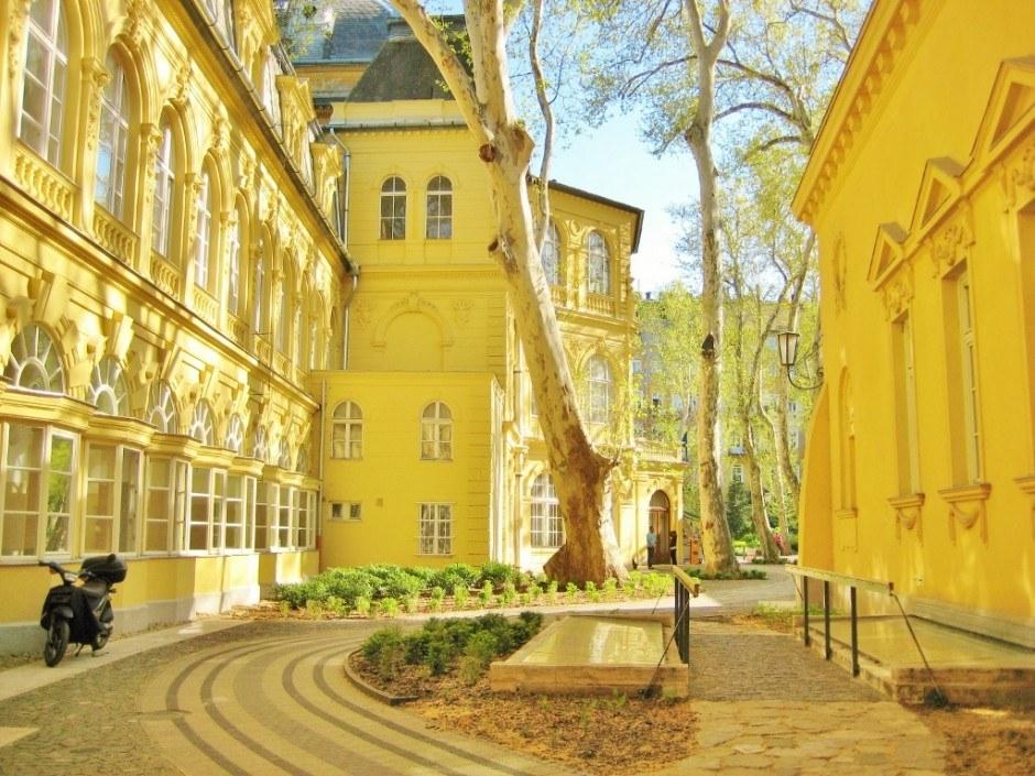 Lukacs Thermal Baths courtyard Budapest Hungary Spa