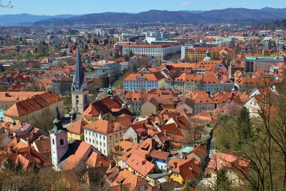 Views during the hike to the top of the Ljubljana Castle