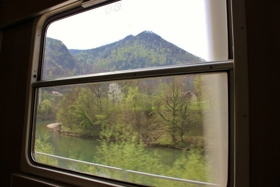 Train to Budapest from Ljubljana had Scenic landscape views