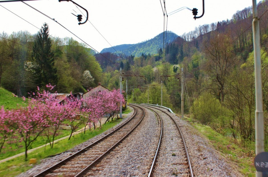 Train to Budapest from Ljubljana: Watching the tracks