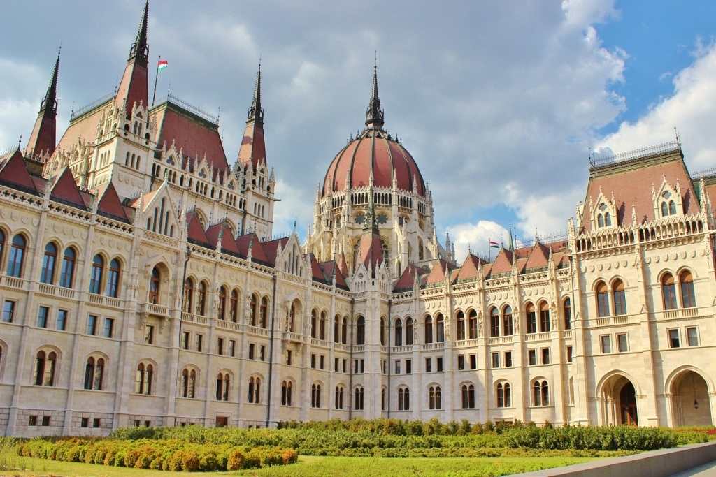 Iconic Budapest sights; The massive parliament building doesn't fit into any one shot from my camera!