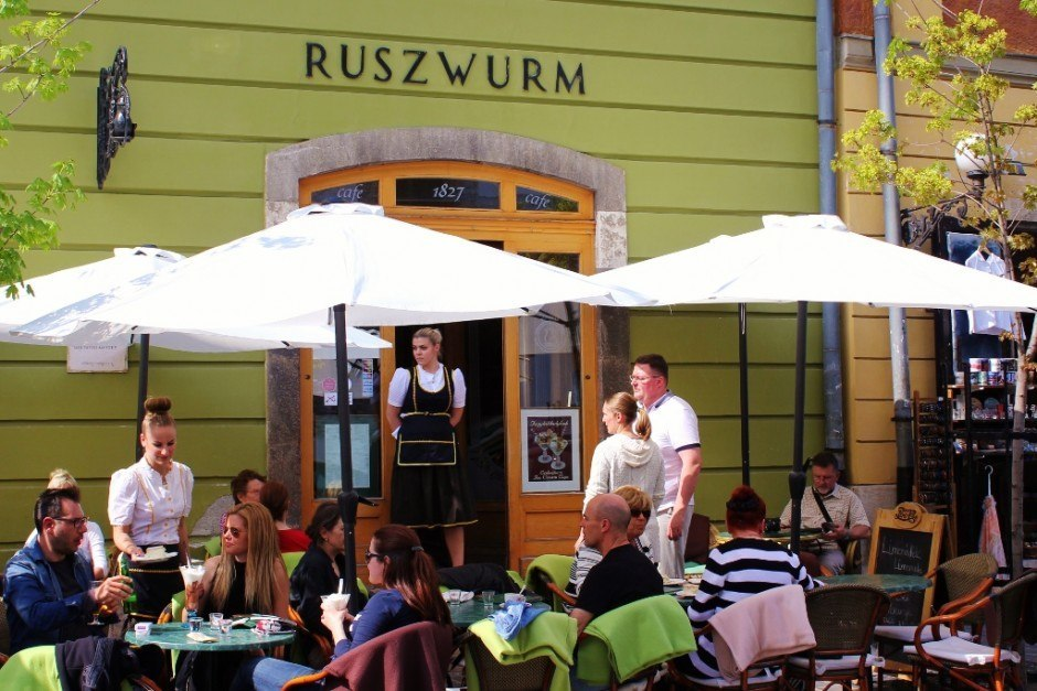 Castle Hill sights: Ruszwurm, the oldest cafe in all of Budapest