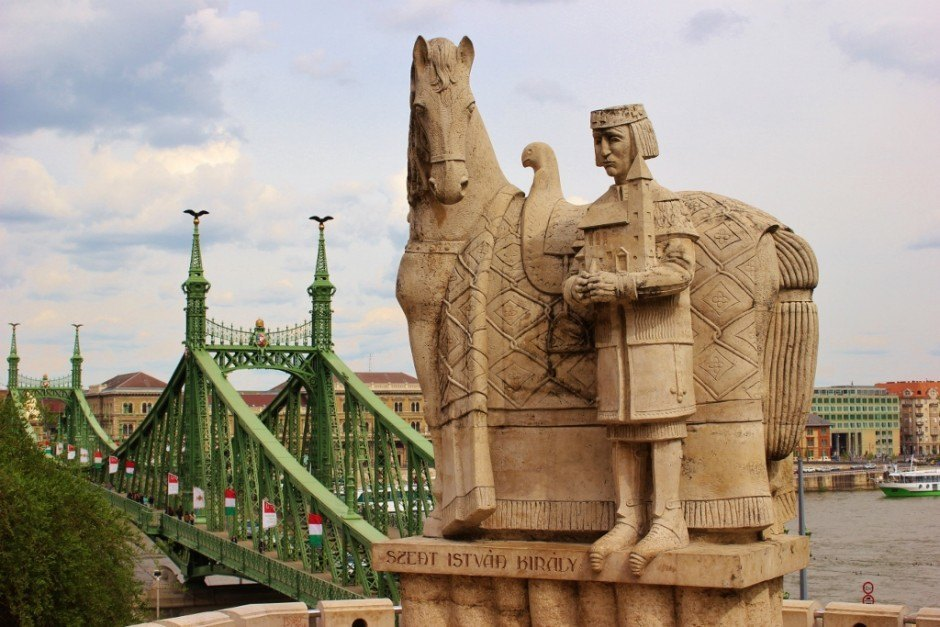 Gellert Hill: St. Istvan and Liberty Bridge