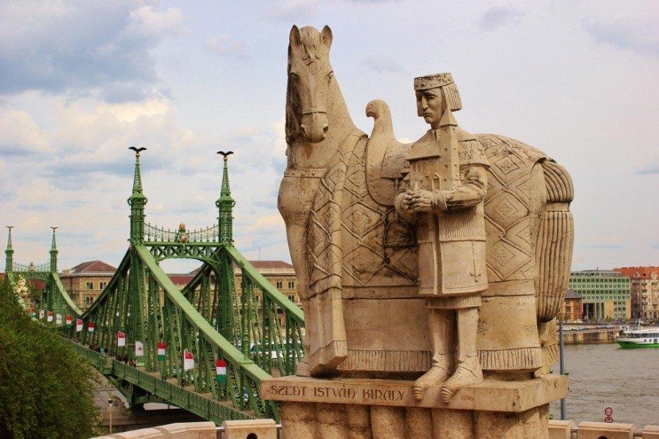Gellert Hill: St. Istvan and Liberty Bridge