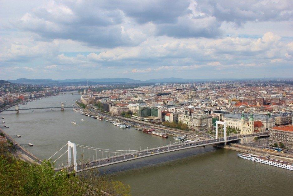 Gellert Hill: View of Elizabeth Bridge and Budapest