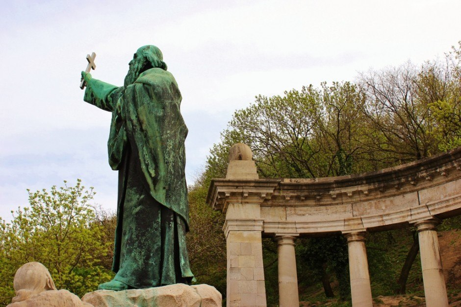 Gellert Hill: Statue of St. Gellert, for whom the hill was named