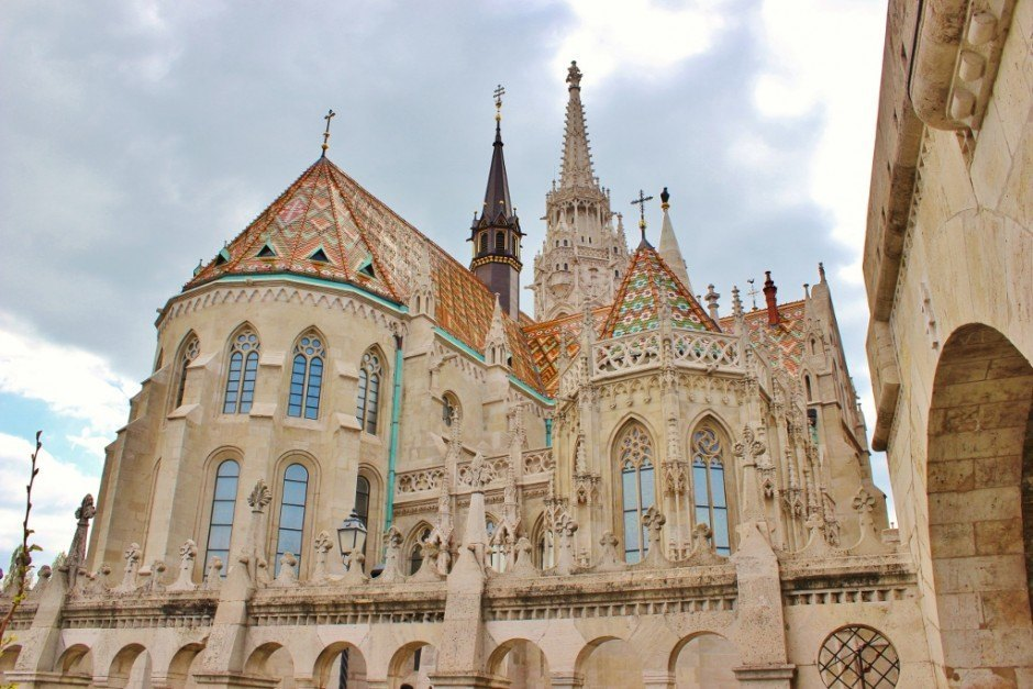 Budapest on a tight budget: We passed on touring the inside of Matthias Church, we were awed enough just by looking at it from the outside!