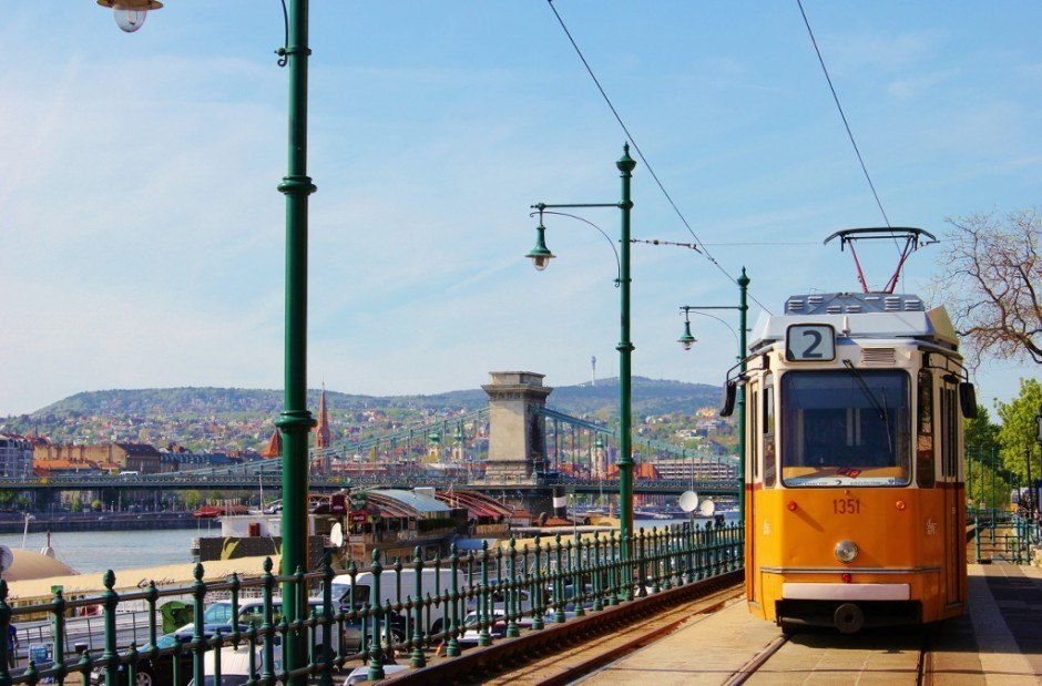 Historic tram #2 only costs $1.25 and is something to do in Budapest on a budget