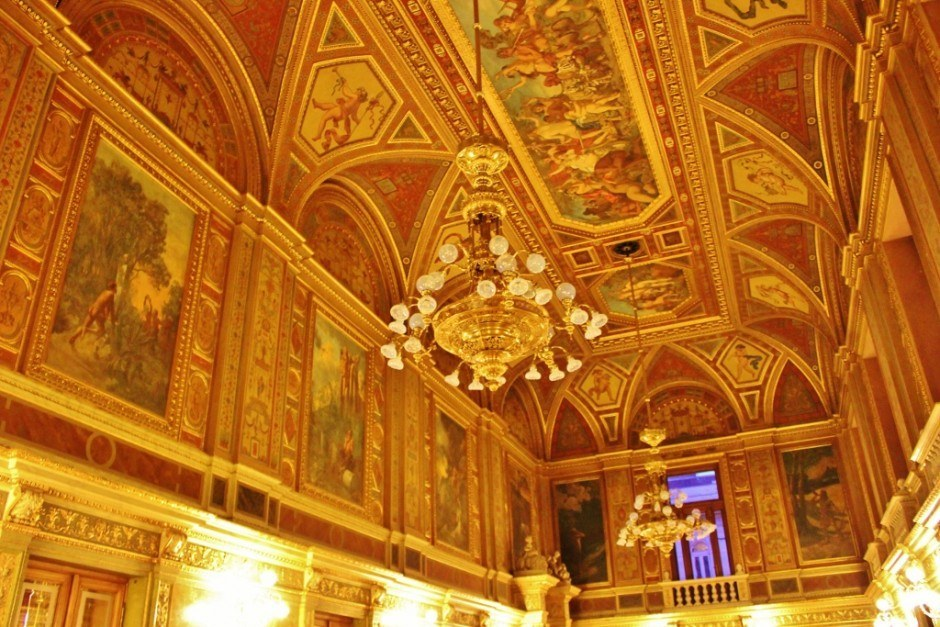 Opera house opulance in Budapest Hungary