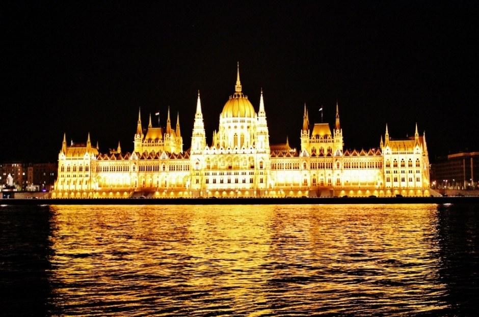 Budapest Hungary Parliament at night