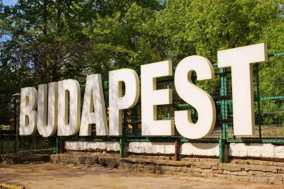 Budapest Hungary sign