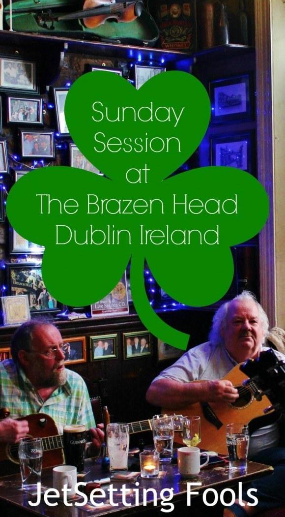 Traditional Dublin, Ireland Sunday Session at the Brazen Head