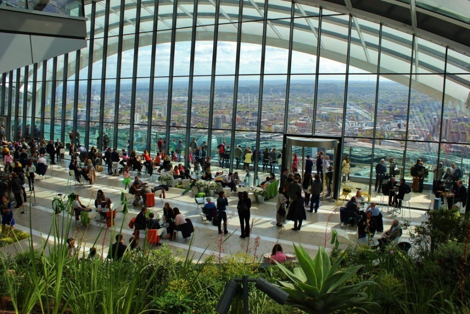 Visiting the Sky Garden in London