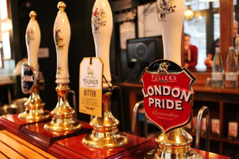 River Thames Pub Crawl #5: In the classic Town of Ramsgate pub, I selected a classic cask ale: London's Pride.