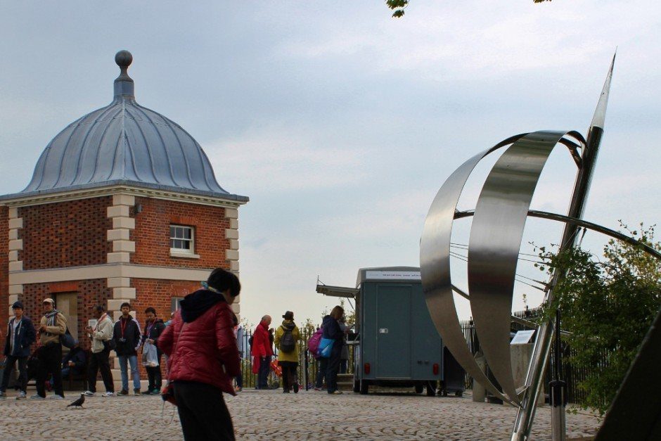 The symbolic Prime Meridian Line in Greenwich, London