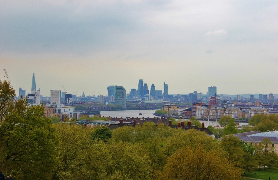 With one day in Greenwich, London take in the view from Greenwich Park hill
