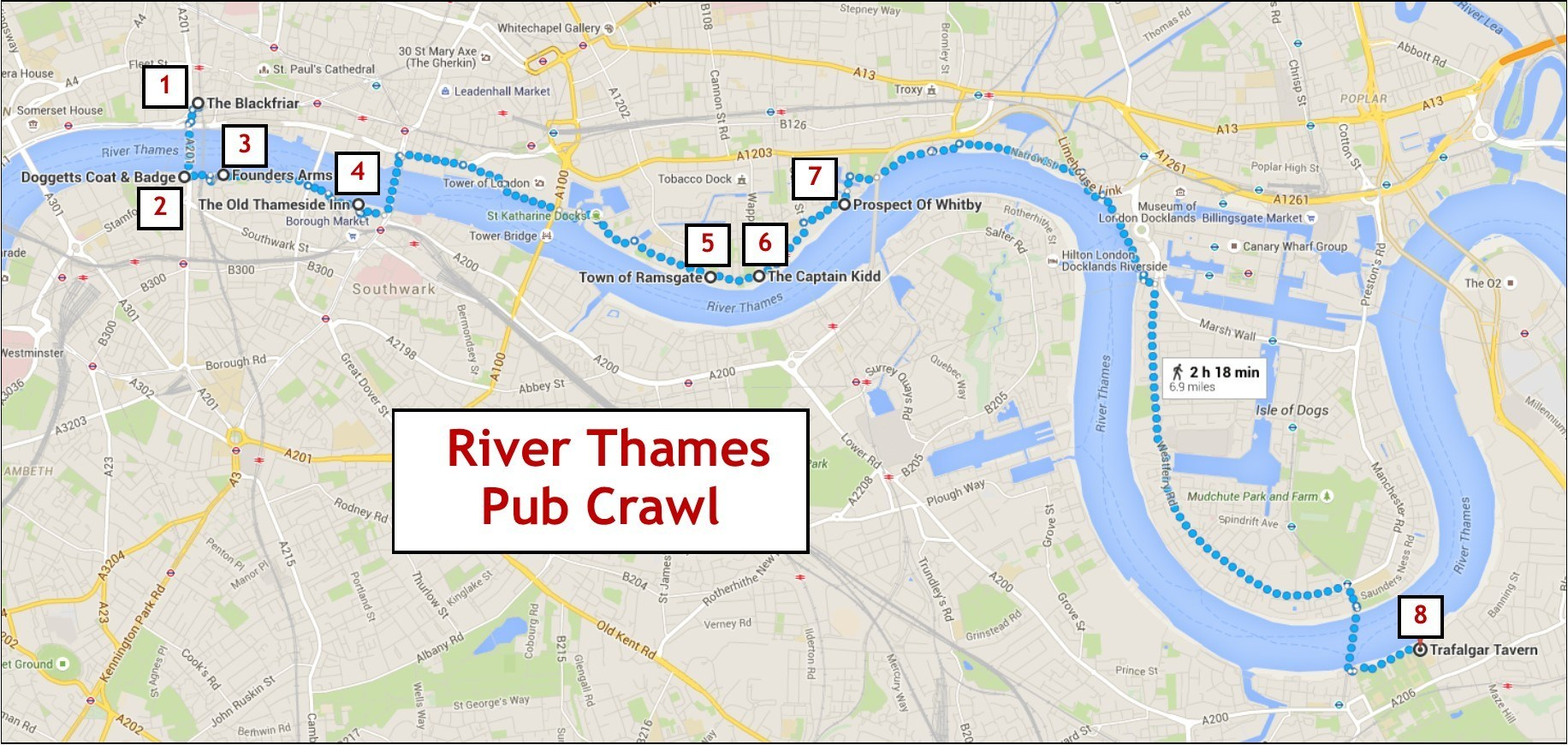 River Thames Pub Crawl - Jetsetting Fools