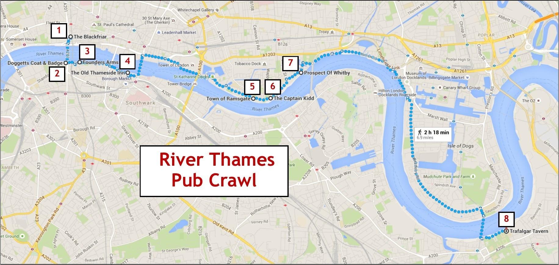 River Thames Pub Crawl  Jetsetting Fools