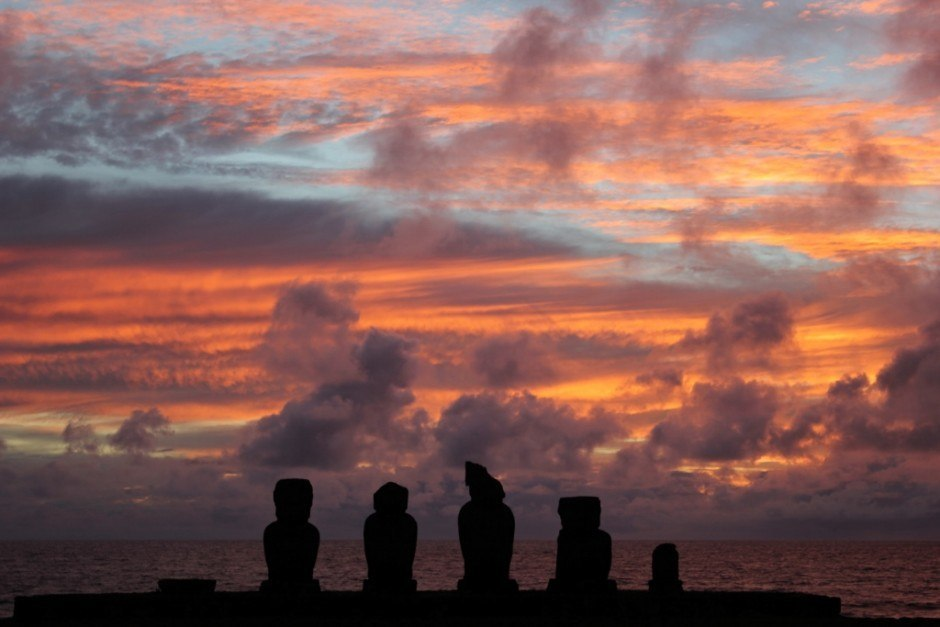Best Sunsets of our Journey: Tahai, Easter Island
