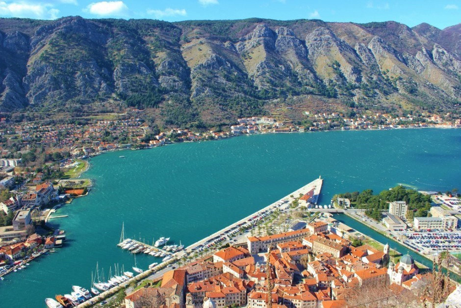 Best Hikes of our Journey: Looking down on the rooftops in Kotor, Montenegro