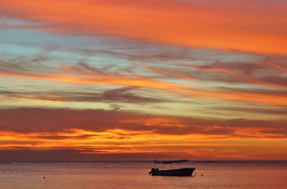 Best Sunsets of our Journey: Flic en Flac, Mauritius