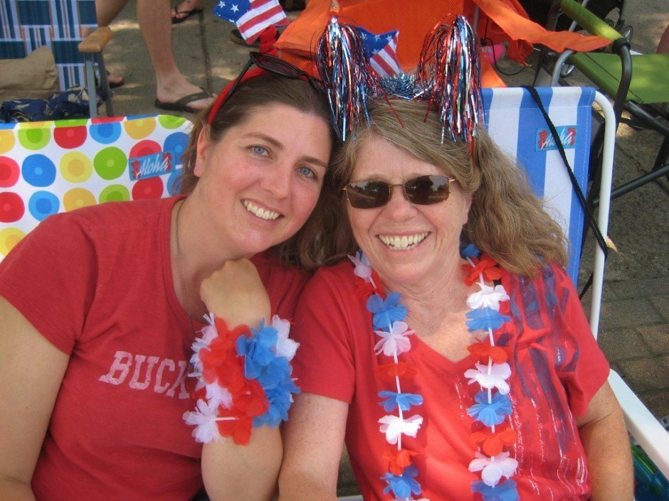 Temporary summertime Ohio residents: Sarah and her mama at the Doo Dah Parade