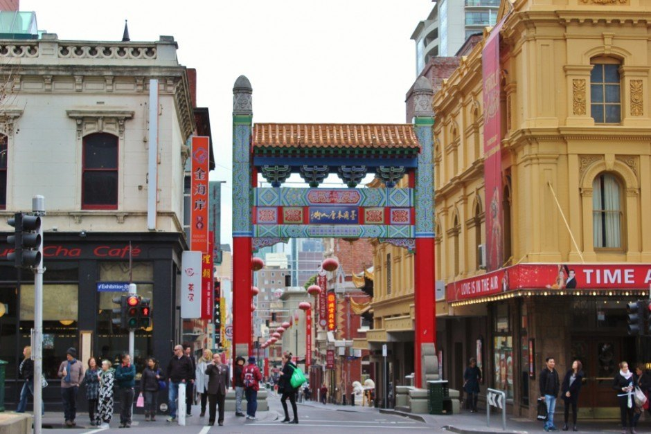 Melbourne's Chinatown is home to many Asian restaurants