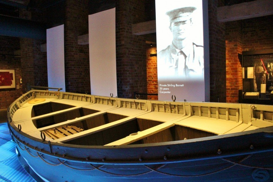 The Devanha lifeboat transfered men from ships to shore landing at Gallipoli