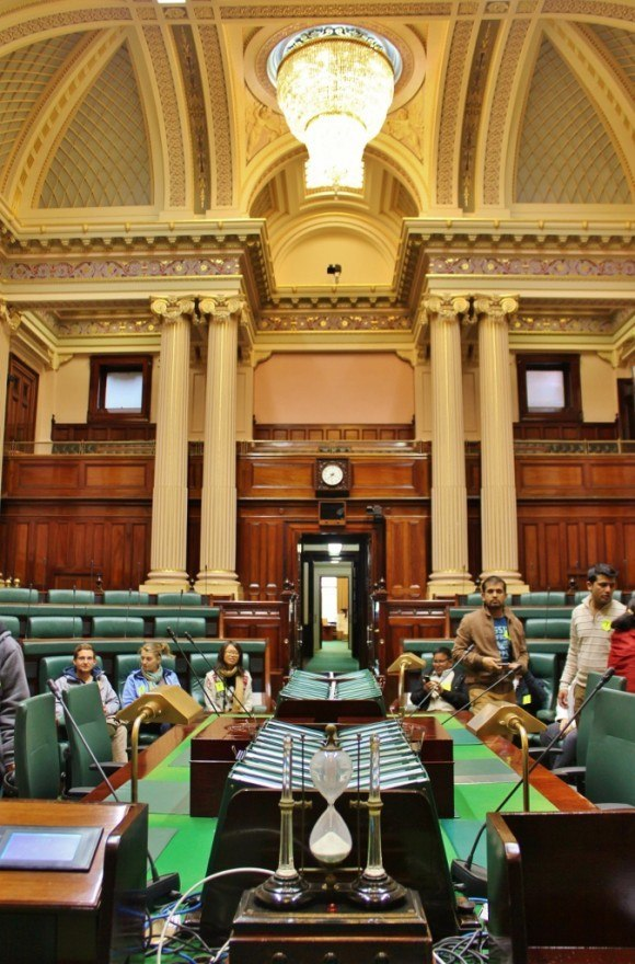 The Melbourne Parliament Tour visits the Legislative Assembly Chamber