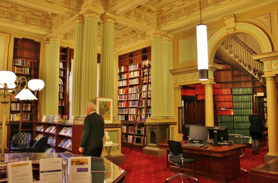 A stop in the Parliament Library was part of the Melbourne Parliament tour