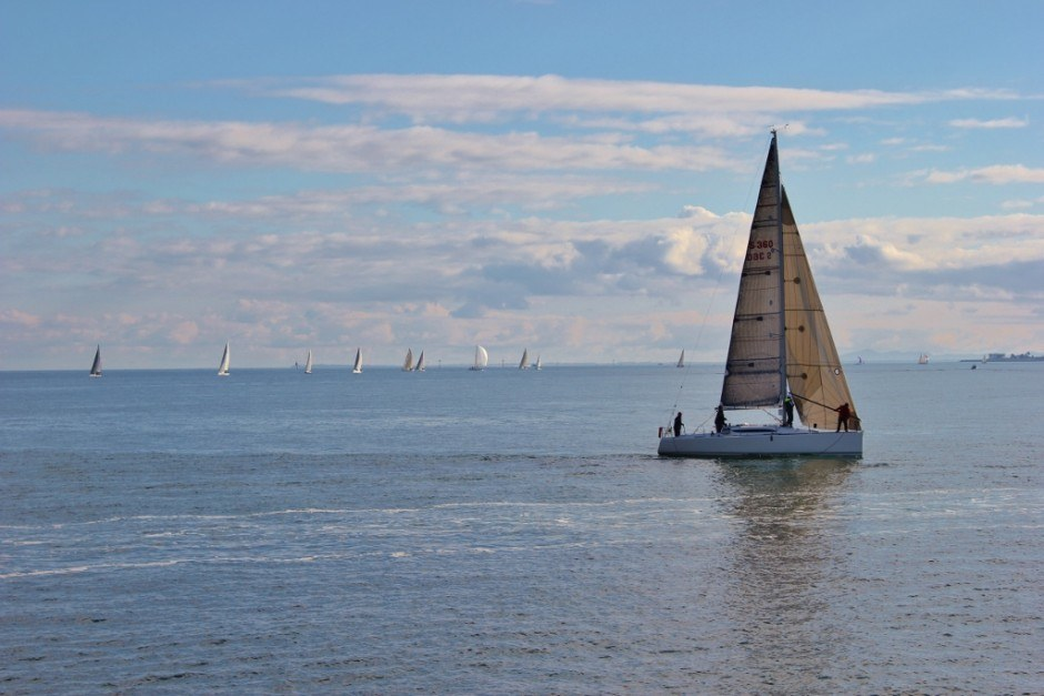 We saw many sailboats on the water during our Walk from Port Melbourne to St. Kilda