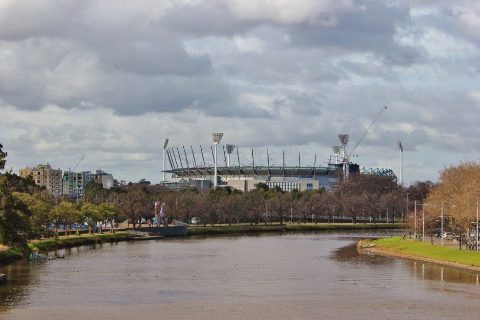 Self-guided walking tour of Melbourne: Stop 15, View of Melbourne Cricket Ground