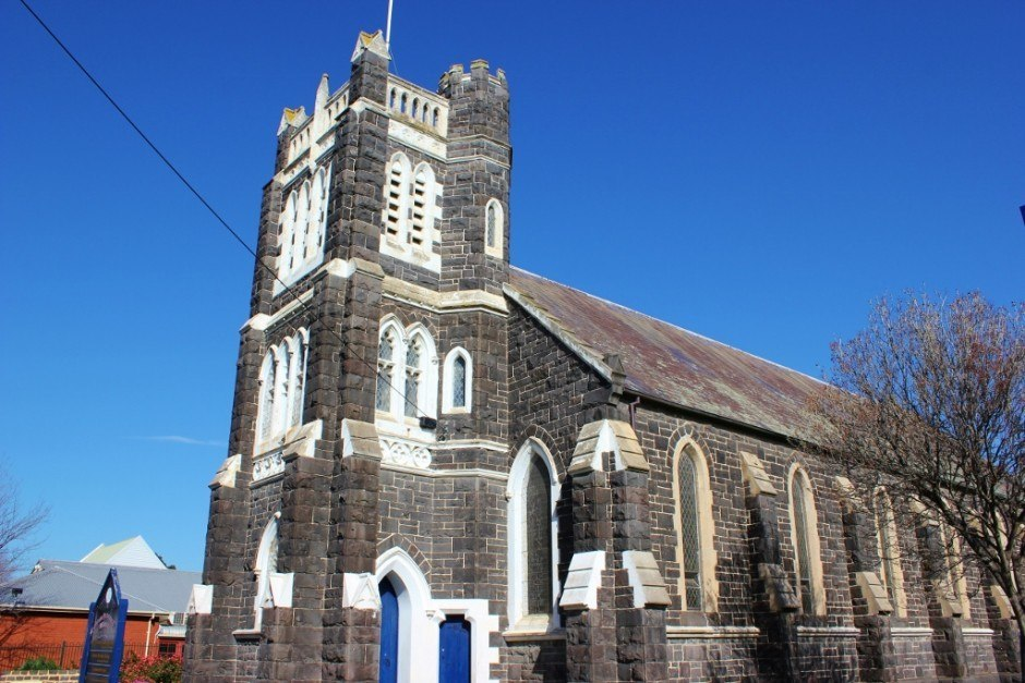 A historic church in Williamstown, Australia