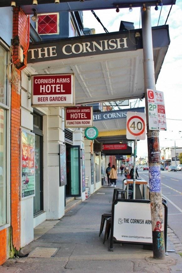 Sydney Road pub crawl in Brunswick: Bar 1; The Cornish Arms