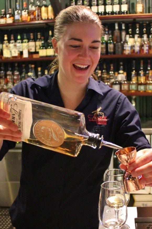 Hobart without a car: Lark Distillery tasting