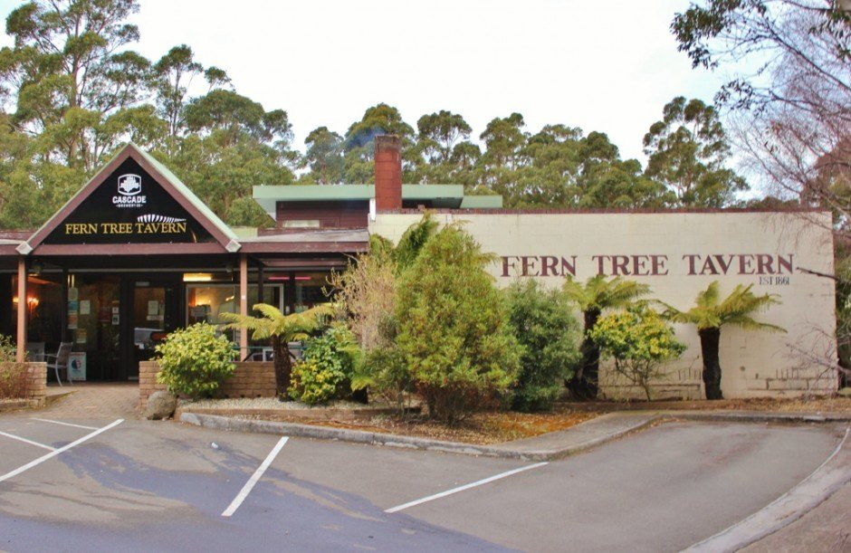 The Fern Tree Tavern never looked better after we finished hiking down Mount Wellington