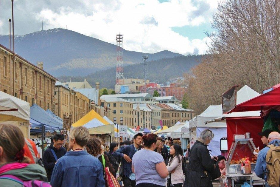 Hobart without a car: Salamanca Market