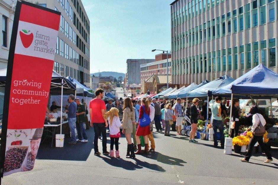 Hobart without a car: Farm Gate Market