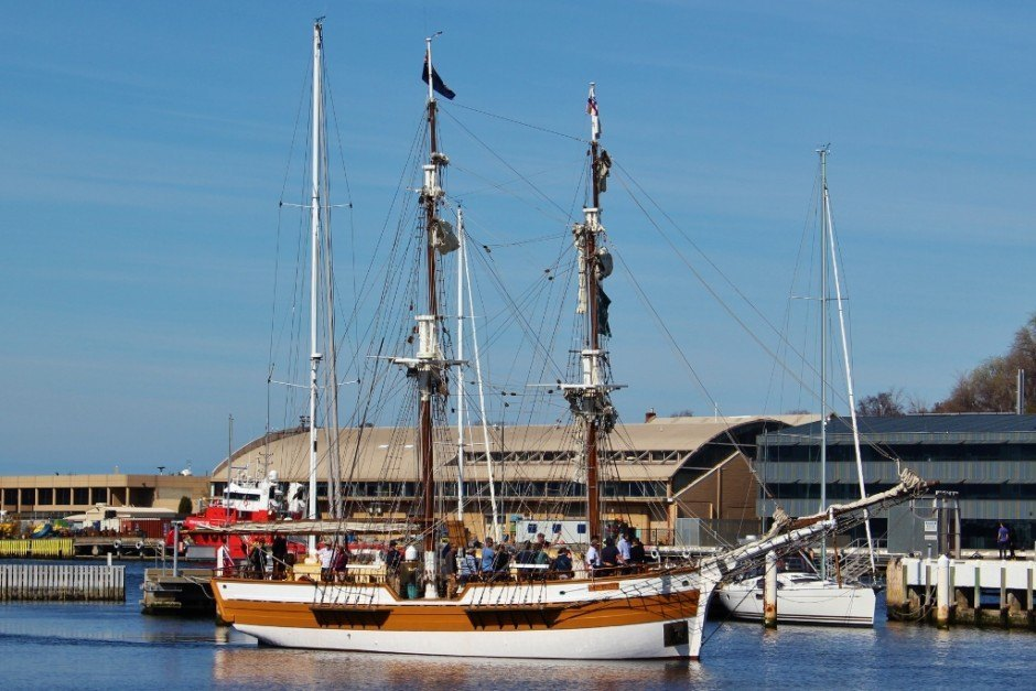 Hobart without a car: Lady Nelson