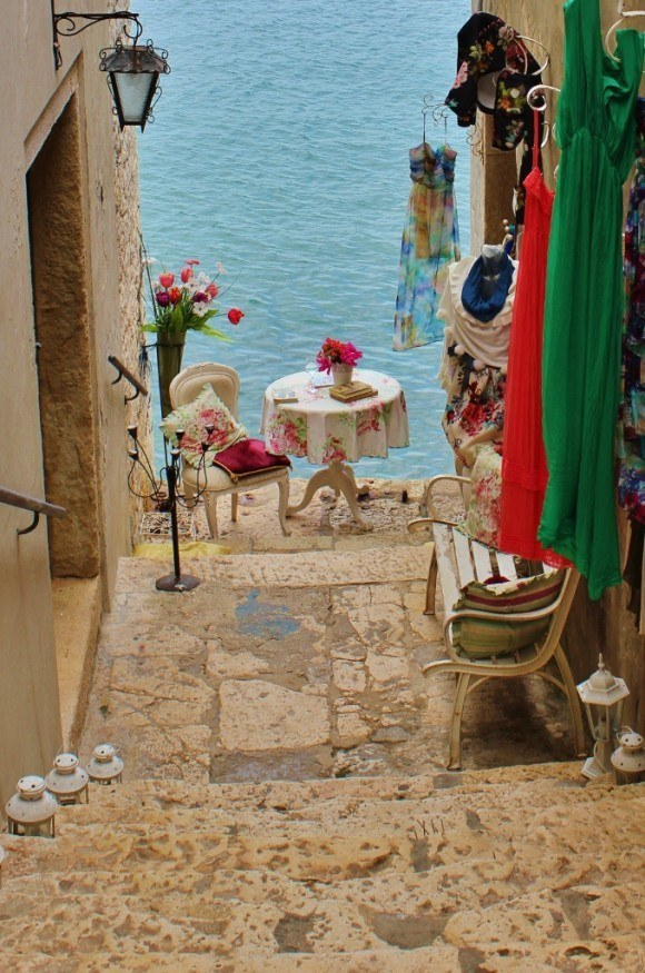 Worn walkways weave through Rovinj's old town, many of which end at the sea